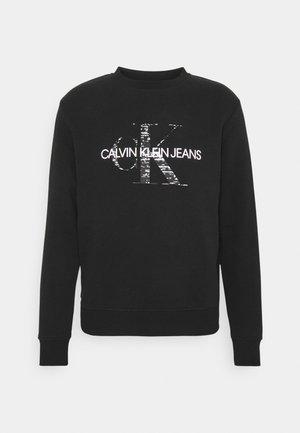 BONDED MONOGRAM CREW NECK - Sweatshirt - black