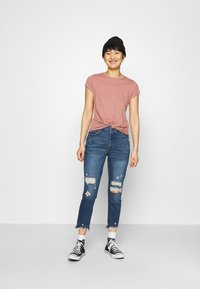 Abercrombie & Fitch - KNOTTED MIDI - Jednoduché triko - pink - 1