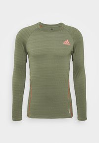 adidas Performance - RUNNER - Sports shirt - olive - 5