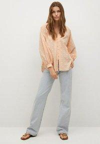 Mango - Button-down blouse - pêche - 1