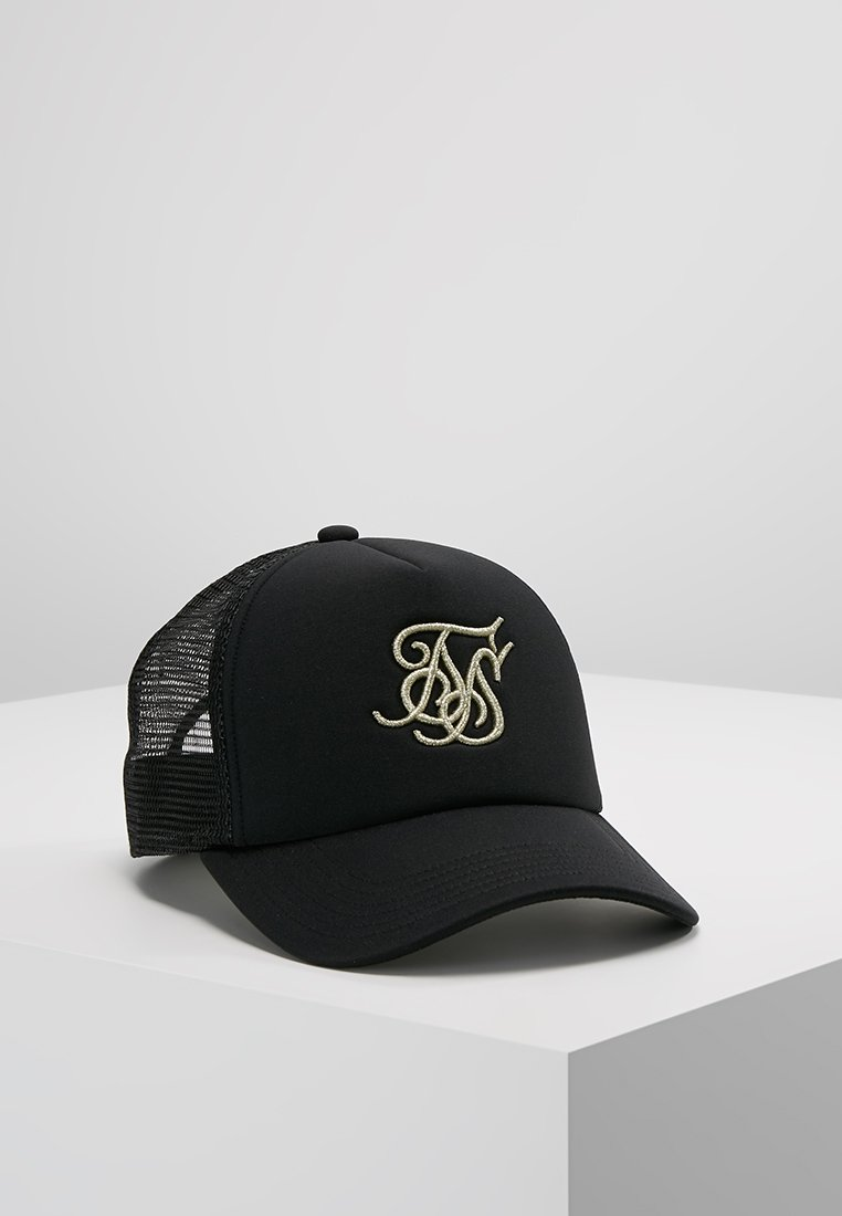 SIKSILK - TRUCKER - Cap - black/gold