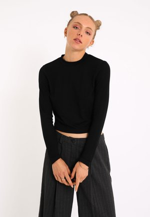 Long sleeved top - schwarz