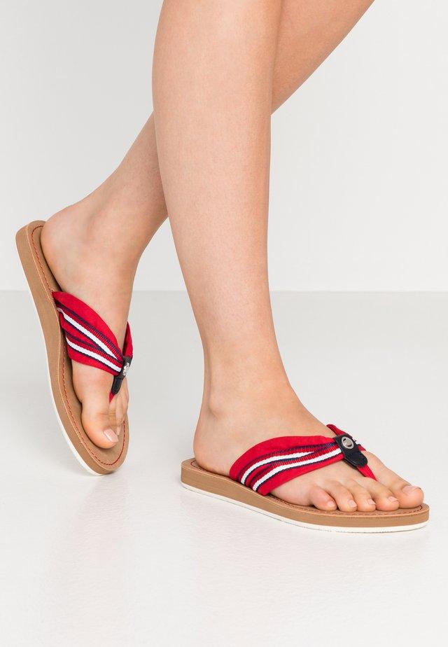 Sandalias de dedo - red