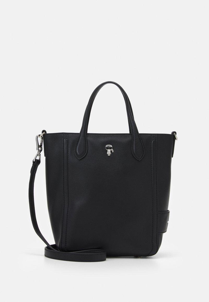 KARL LAGERFELD - IKONIK 3D PIN MINI TOTE - Tote bag - black