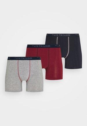 LONGPANTS 3 PACK - Panty - red7dark blue/mottled grey