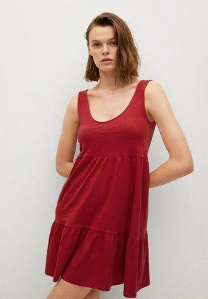 Korte jurk - kersenrood