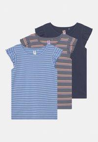 Cotton On - KAIA 3 PACK - T-shirt con stampa - dusk blue/indigo/steel - 0