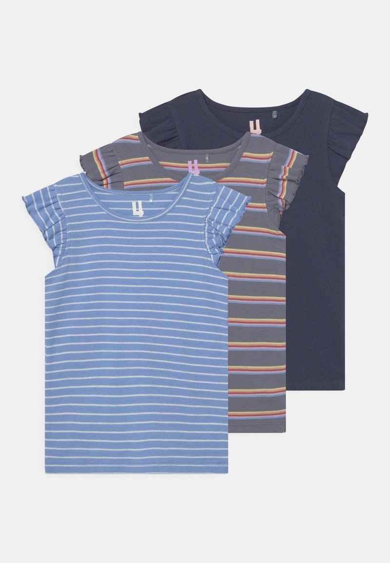 Cotton On - KAIA 3 PACK - T-shirt con stampa - dusk blue/indigo/steel