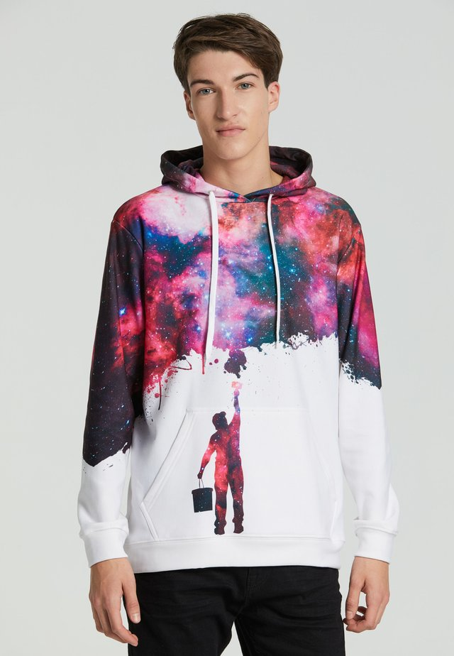 PAINT MY GALAXY  - Kapuzenpullover - white