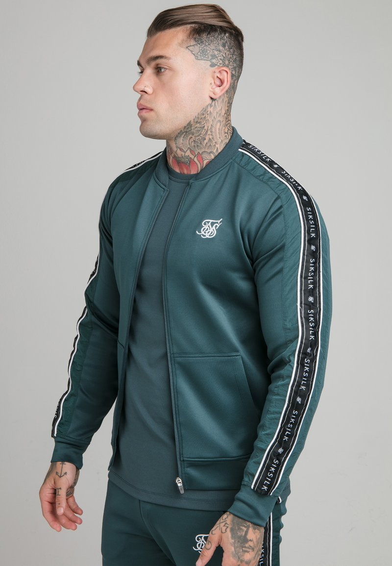 SIKSILK - CRUSHED  JACKET - Giubbotto Bomber - ocean green
