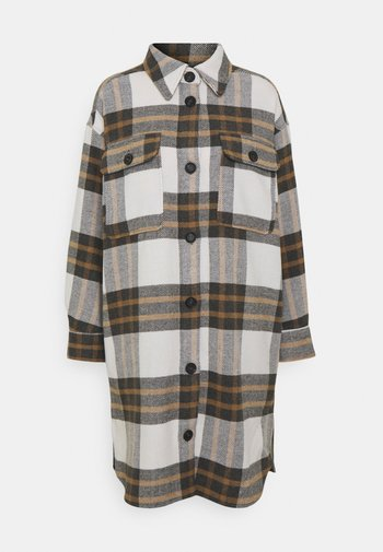 JDYDONNA LONG SHACKET - Classic coat - egret/gray/woodsmoke