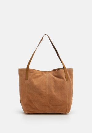 LEATHER - Tote bag - tan
