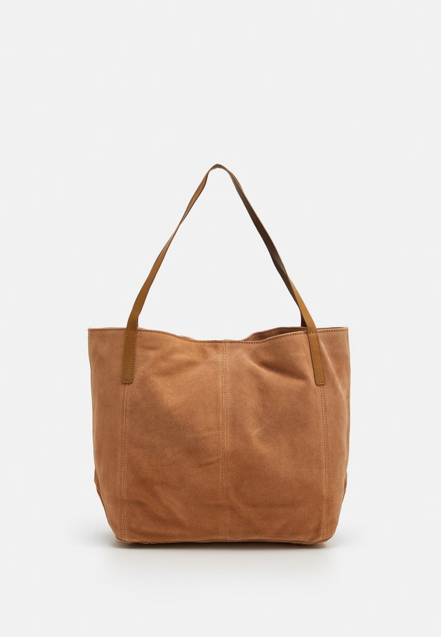 LEATHER - Shopping bag - tan
