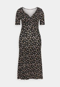 Anna Field - Žerzejové šaty - black/multicolor - 4