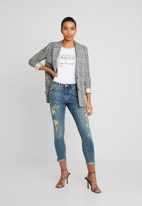 Mos Mosh - BRADFORD WORKED - Jeans Skinny Fit - blue denim - 1
