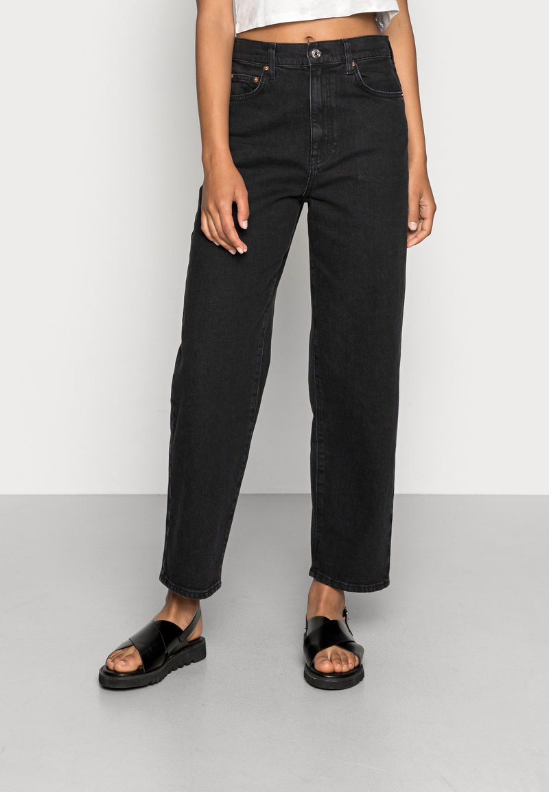 Gina Tricot - COMFY - Straight leg jeans - offblack