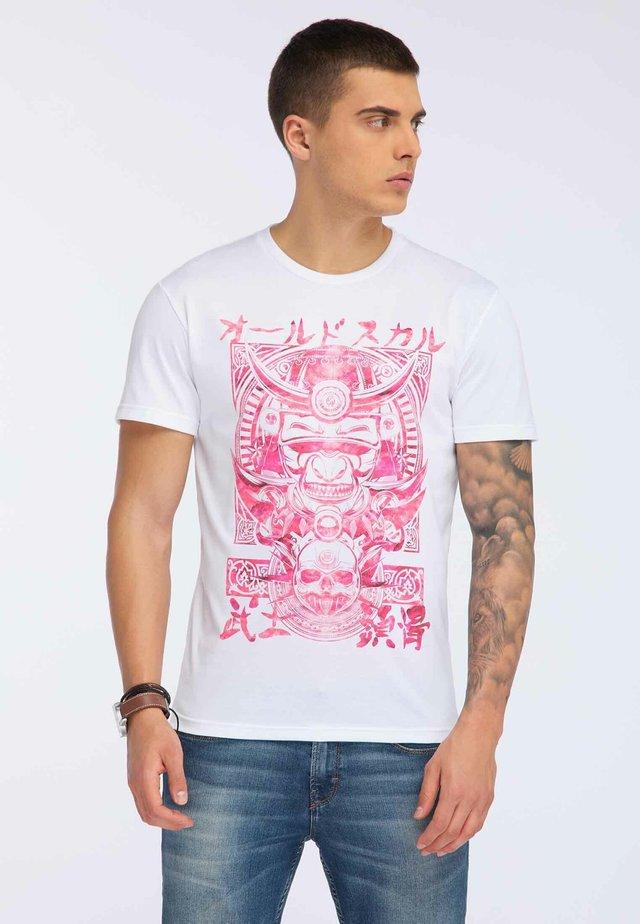 OLDSKULL T-SHIRT PRINT - Print T-shirt - white
