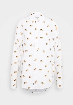 ALL OVER ANGELS PRINTED - Button-down blouse - white