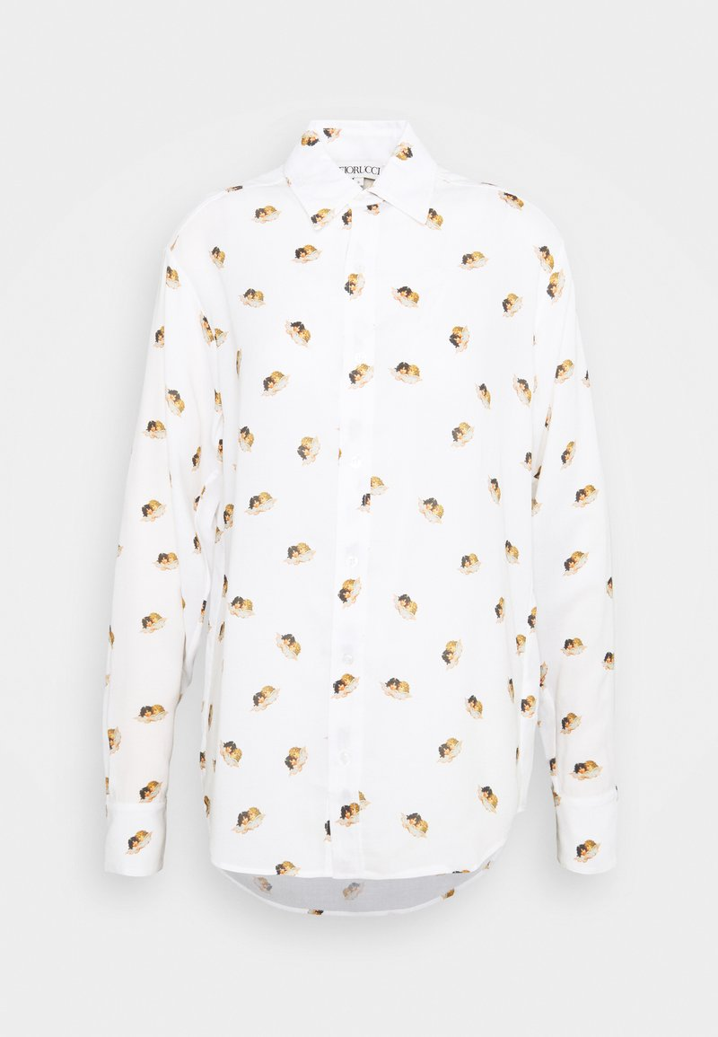 Fiorucci - ALL OVER ANGELS PRINTED - Button-down blouse - white