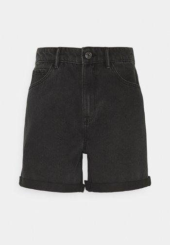 ONLVEGA LIFE MOM - Shorts di jeans - black