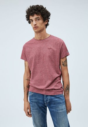 PAUL - Basic T-shirt - lotus red
