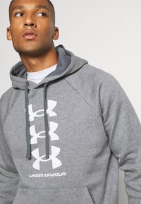 Under Armour - RIVAL MULTILOGO - Kapuzenpullover - pitch gray light heather - 3