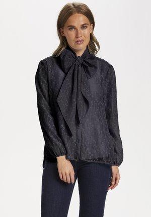 Button-down blouse - blue deep