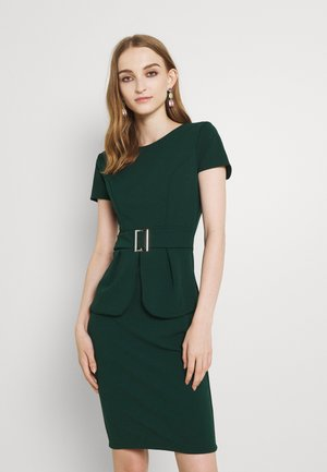 PEPLUM BUCKLE MIDI DRESS - Cocktail dress / Party dress - forest green