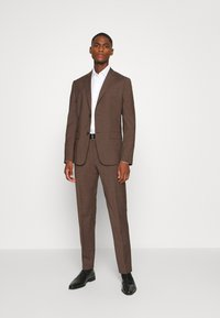 Calvin Klein Tailored - TROPICAL STRETCH SUIT - Suit - brown - 1