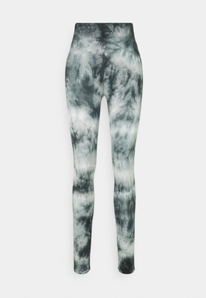 TIE DYE - Leggings - Trousers - black