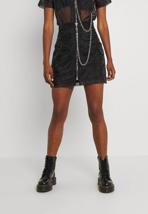 DROPOUT SKIRT - Mini skirt - black