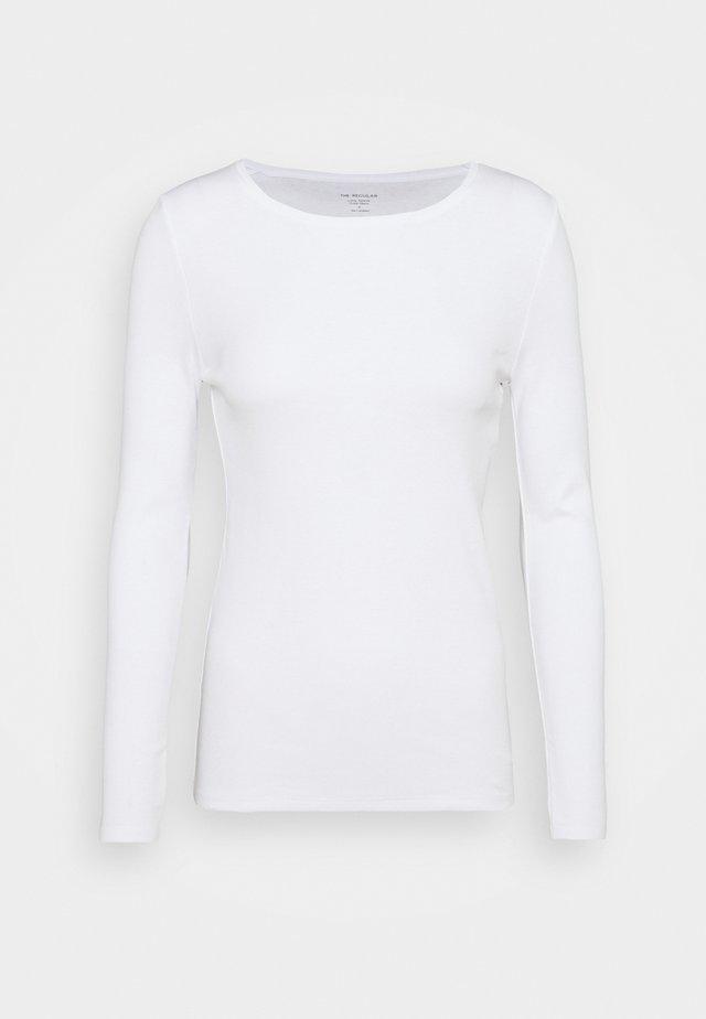 REGULAR CREW - Top sdlouhým rukávem - white