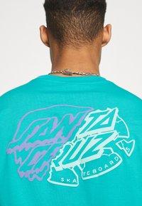 Santa Cruz - UNIVERSAL DOT UNISEX - T-shirt imprimé - aqua - 5