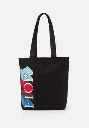 EXPLODED LOGO SCARF TOTE UNISEX - Tote bag - black