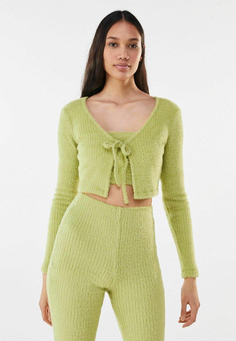 Bershka - Cardigan - green