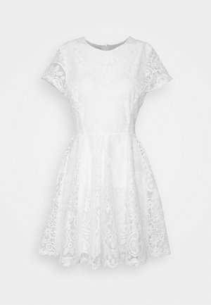 AVERI SKATER DRESS - Cocktail dress / Party dress - white