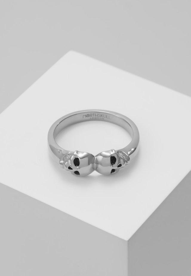 ATTICUS TWIN SKULL - Anillo - silver