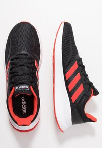 adidas Performance - RUNFALCON - Neutral running shoes - core black/active red/core black - 1