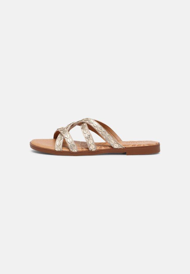MARIA - Sandaler - beige/platino