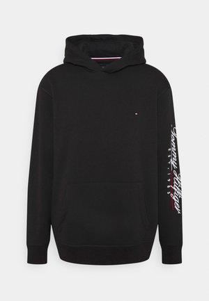 SCRIPT EMBROIDERY HOODY UNISEX - Sweatshirt - black