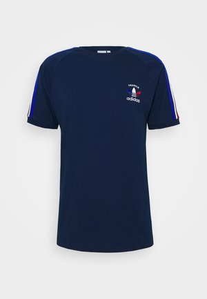 STRIPES SPORTS INSPIRED SHORT SLEEVE TEE UNISEX - Triko s potiskem - collegiate navy