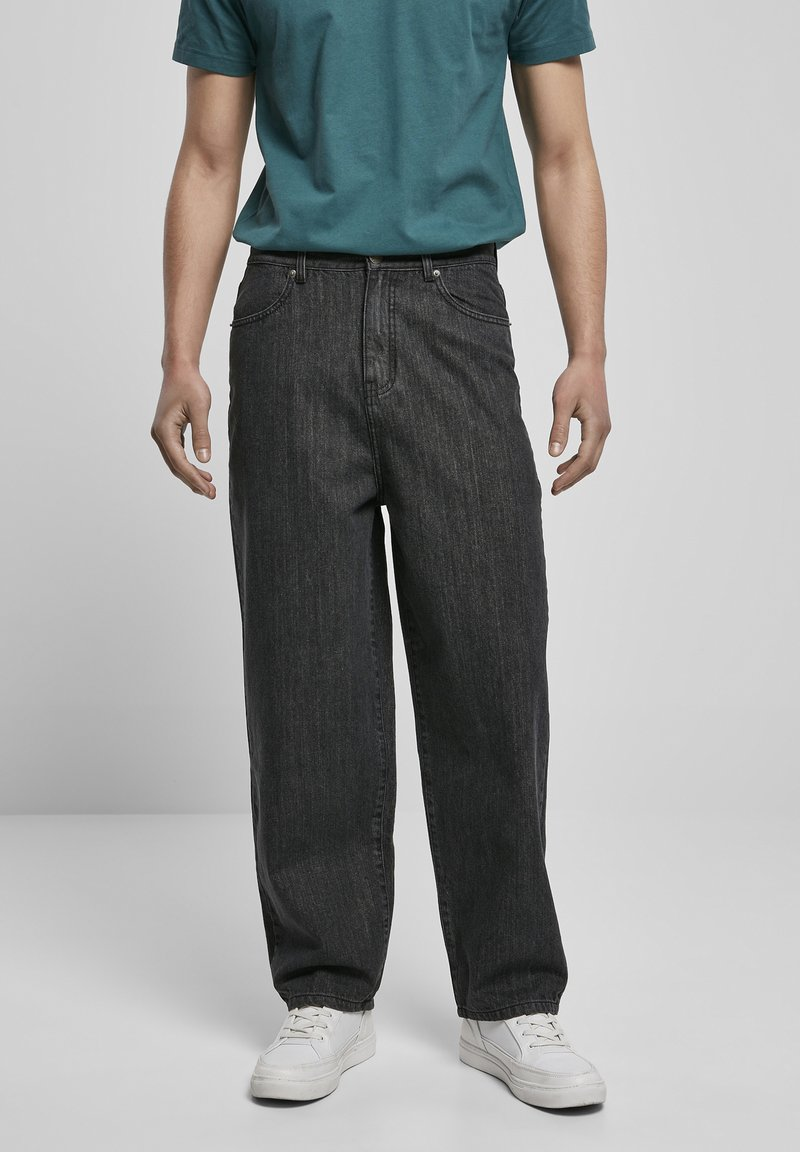 Urban Classics - Relaxed fit jeans - black acid washed