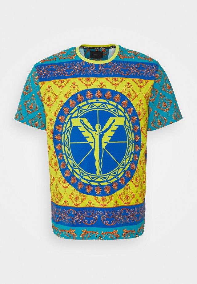 COLOURS BIG - T-shirt imprimé - petrol