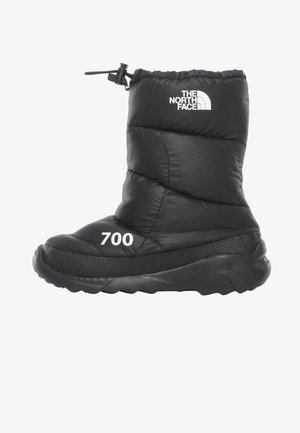 W NUPTSE BOOTIE 700 - Wedge Ankle Boots - tnf black/tnf white
