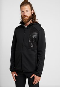 The North Face - MERAK HOODY - Fleecetakki - black - 0