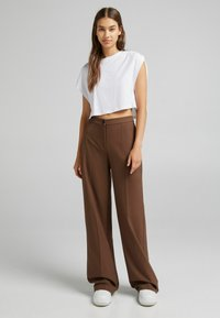 Bershka - Kalhoty - brown - 1