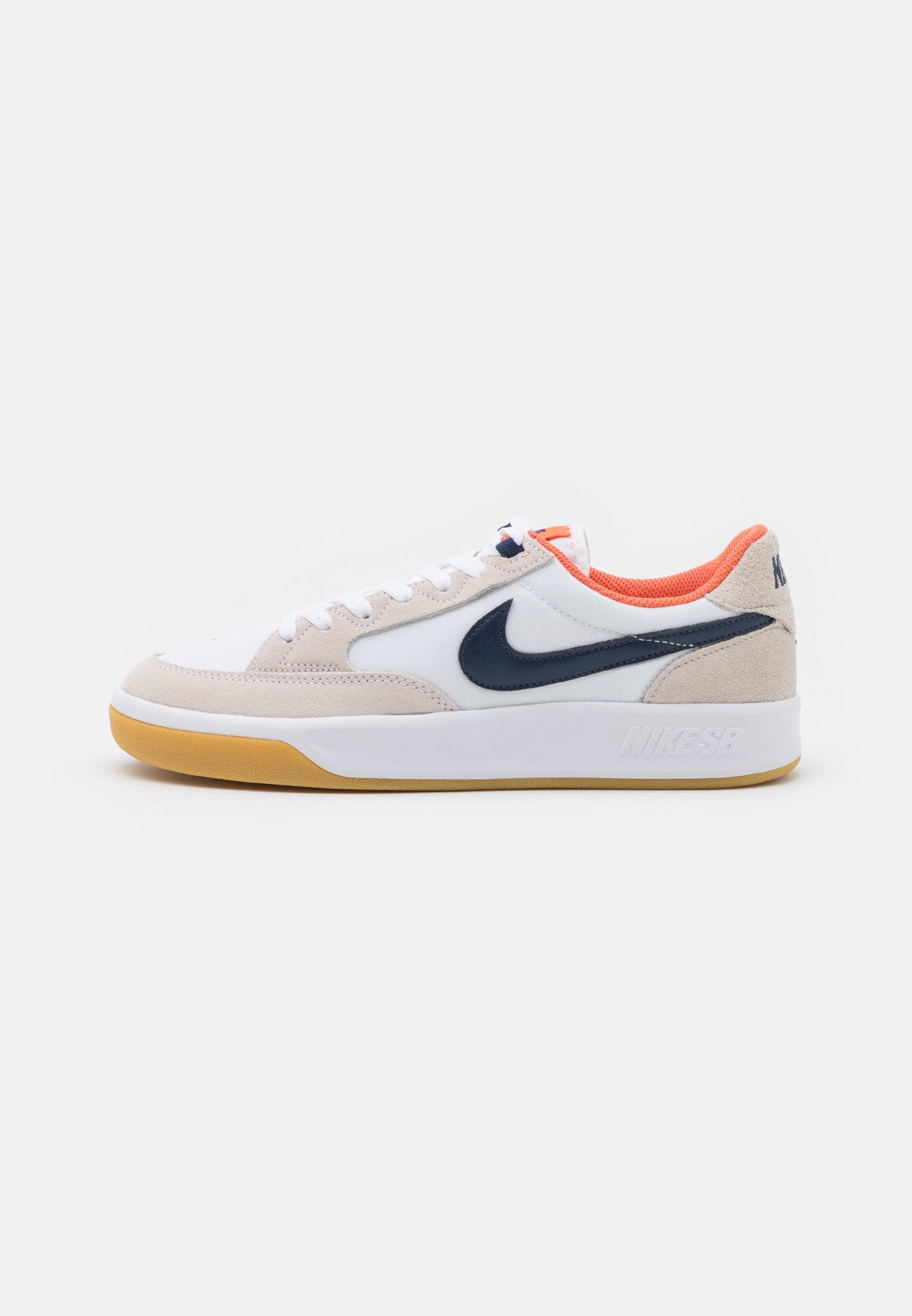 ADVERSARY PREMIUM UNISEX - Baskets basses - white/midnight navy/turf orange