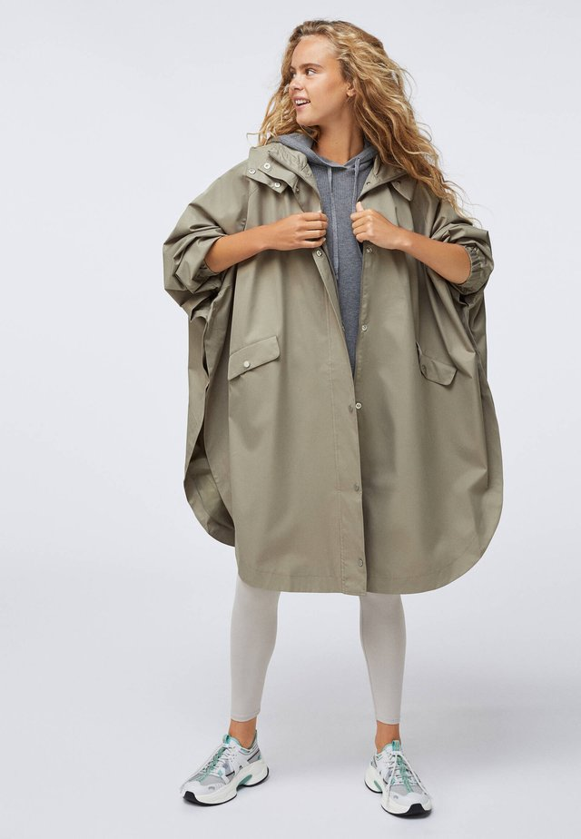 WATER-REPELLENT CAPE-STYLE - Trench - khaki