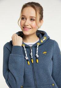 Schmuddelwedda - SWEATJACKE - Zip-up sweatshirt - marine melange - 3