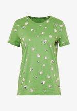 CREW NECK - T-shirt imprimé - green parasol design green